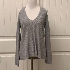 ROI Cashmere Cold Shoulder Sweater